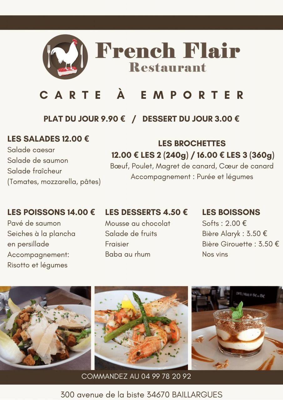 La Carte - French Flair - Restaurant Baillargues